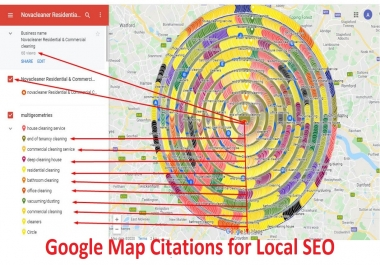 I will do 300 Google Map Citations with Local Listing at GMB