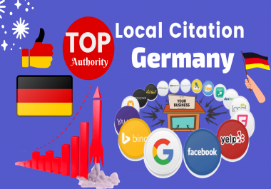 I will do Top 30 Germany Local Citations