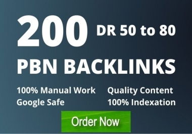 I will manually create 200 high quality PBN SEO backlinks