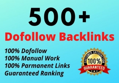 I will create 500+ high quality dofollow off page SEO backlinks