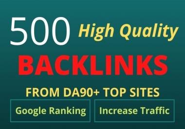 I will create 500 high quality SEO dofollow backlinks