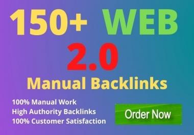 I will build 150+ high authority web 2 0 seo backlinks