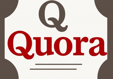 I will write and publish 5 Quality full Quora Answer with DA-40-90.