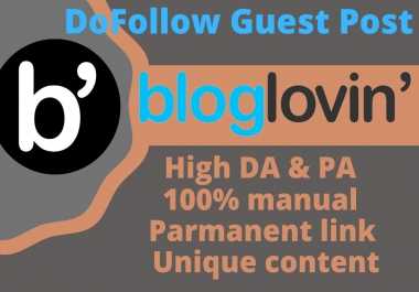 I will build manually quality-full guest post on bloglovin