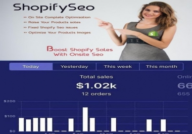 I will do shopify SEO to increase google rankings and shopify sales