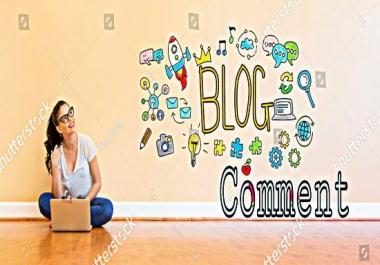 I will do manually promote your website 50 high DA PA Do Follow blog comments baklinks