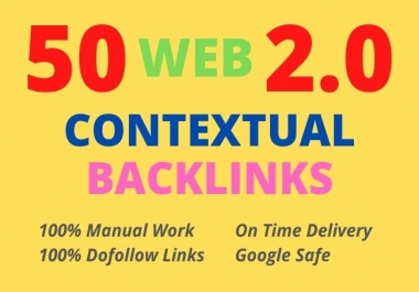 I will build 50 web 2 0 contextual backlinks for seo ranking