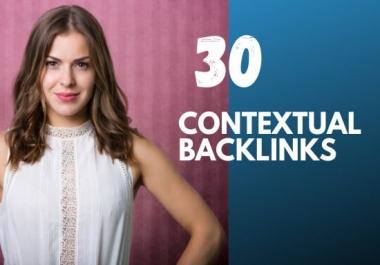 I will do 30 contextual backlinks SEO link building
