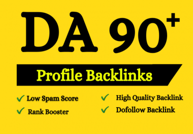 Build 50 high authority dofollow profile manual backlinks