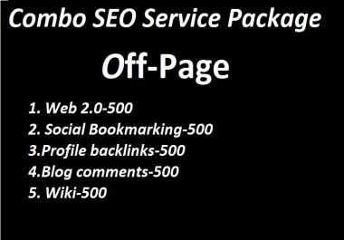 I will provide combo SEO services off-page package