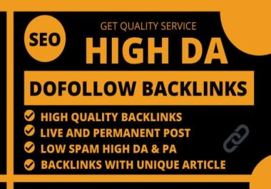 I will make 500 high authority high da seo dofollow backlinks