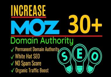 increase moz da domain authority up to 30 plus