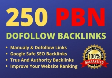 I will do 250 high authority dofollow PBN backlinks