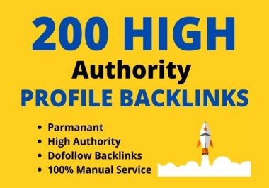 I will build 200 manually high authority profile backlinks