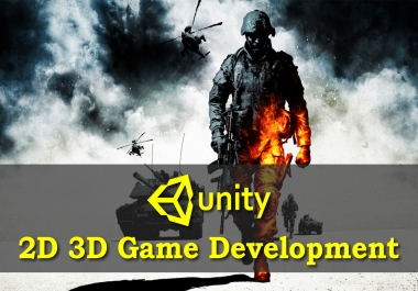 Develop and design 2d and 3d games in unity