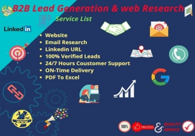 I will Provide b2b lead generation for targeted industry and location.