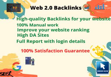 I will do 30 manual authority web 2.0 backlinks for google ranking.