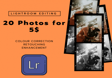 I will edit your photos in lightroom color correction, retouching & enhancement