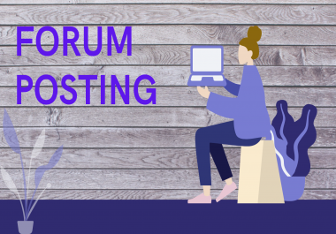 Manually create 40 backlinks for high authority forum posts