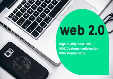 I'll do 50 SEO WEB 2.0 High Authority Dofollow Backlinks to rank up your website