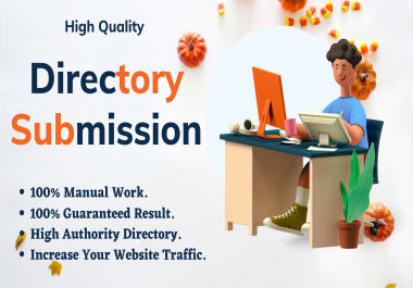 I will build 50 backlinks for directory submission to all high DA PA sites.