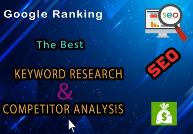 premium keyword research and competitor analysis for google top ranking