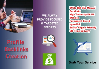 I Will Create Manually 150 High Profile Backlinks for Permanently