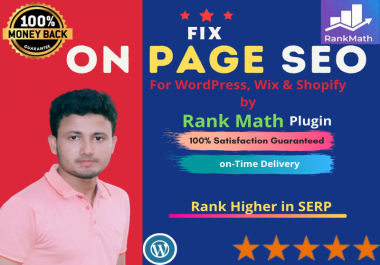 I Will do Fix On Page SEO by rank math to rank your website Higher in SERP