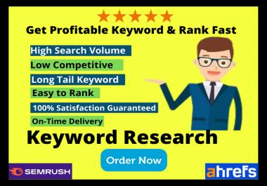 I will Provide 200+ keywords Profitable & Niche Relevant