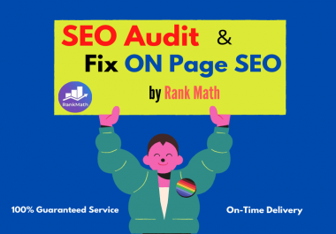 I will do Complete SEO Audit Report & Fix On page Issues by Rank Math