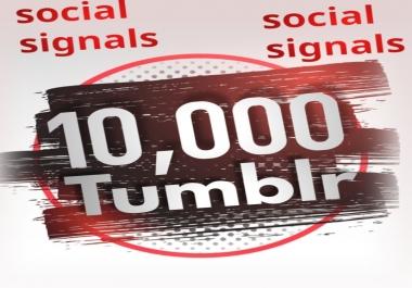 10,000 Tumblr Social Signals From 1 Social Media SEO Ranking