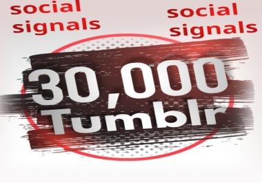 30,000 Tumblr Social Signals From 1 Social Media SEO Ranking