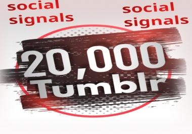20,000 Tumblr Social Signals From 1 Social Media SEO Ranking