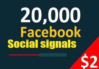 20,000 Facebook Social Signals From 1 Social Media SEO Ranking