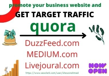 I will post question and answers to create Quora high-quality website traffic by forum post and Ques