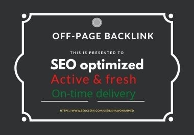 I will repair all off-page SEO backlinks