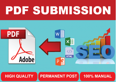 Best 25 PDF submission I Will do Best quality High Quality Backlinks