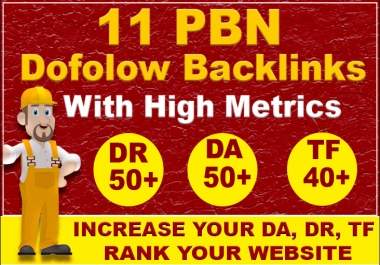 Build Permanent 11 High Authority Pbn Dofollow Seo Backlinks On DA 50+