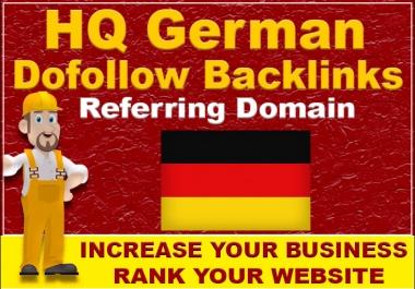 Provide permanent 30 german high quality dofollow seo backlinks