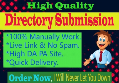 I Will Do 70 Manually Best Quality Directory Submission Backlinks On High Authority Site.