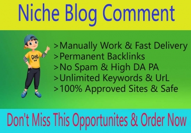 I Will Build 100 Niche Relevant Manual Blog Comments Links for Website Ranking