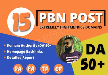 Build 15 High DA PA CF TF Permanent HomePage PBN Backlinks - Dofollow Quality Links