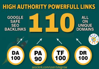 I Will MANUALLY Do 110 UNIQUE PR10 SEO BackIinks on DA100 sites Plus Edu Links