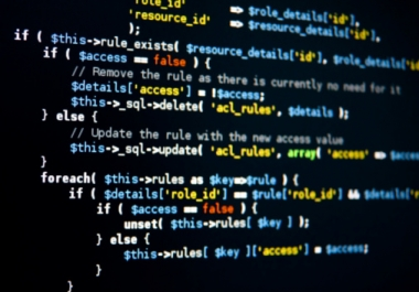 Create custom php script, html, css, javascript and php mysql for websites and web applications