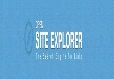 give you Open site explorer report