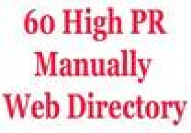 submit 60 high pr web directory manually like jayde, gray directory, bizweb, somuch and more
