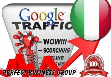 Organic traffic from Google.it (Italy) with your Keyword
