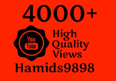 I will add Super Fast 4000-4500 YouTube Views