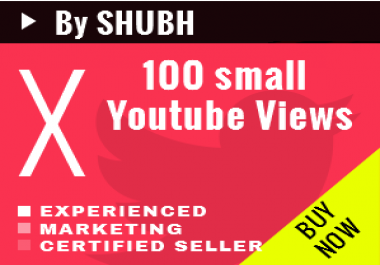 Add 100 Small Youtube Views