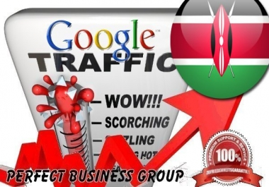 Organic traffic from Google.co.ke (Kenya) with your Keyword